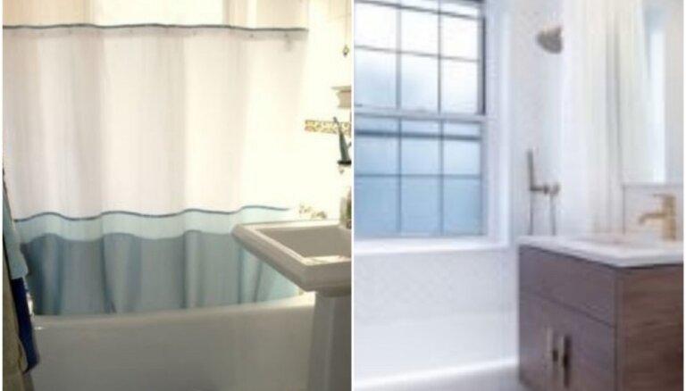 Foto: Pirms un pēc – mazās vannasistabas stilīgās pārvērtības Ņujorkā
