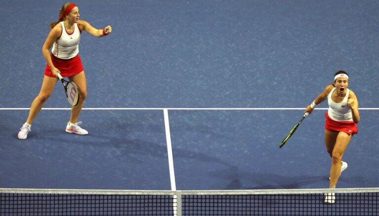 Sevastova un Ostapenko Sanktpēterburgas WTA turnīra pirmajā kārtā tiksies ar francūzietēm