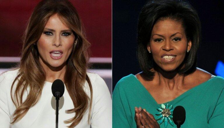 Trampa dzīvesbiedre izpelnās asu kritiku par Mišelas Obamas runas kopēšanu