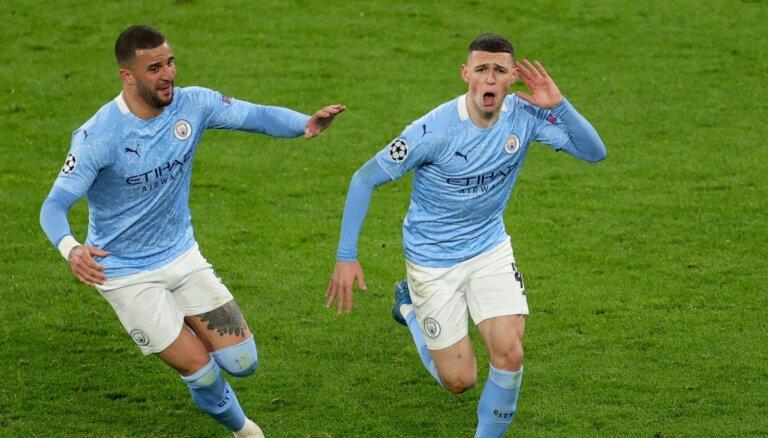 'Manchester City' atspēlējas Dortmundē un iekļūst Čempionu līgas pusfinālā