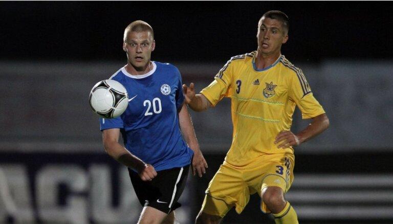 Ukrainas futbolisti pārbaudes spēlē sagrauj Igauniju