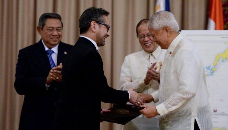 Indonēzija un Filipīnas atrisina 20 gadus senu teritoriālo strīdu