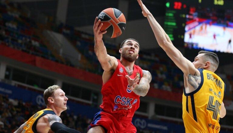 Timma un Bertāns kopā gūst 23 punktus zaudējumā Strēlnieka pārstāvētajai CSKA