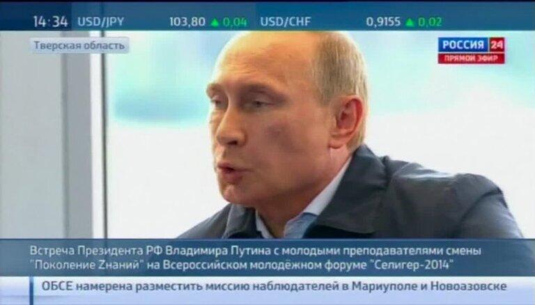 Putins ukraiņus salīdzina ar nacistiem