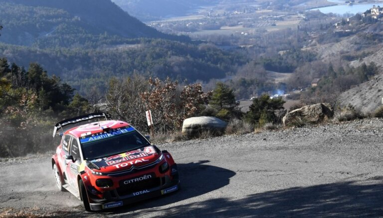 Ožjērs WRC titula aizstāvēšanu sāk ar uzvaru Montekarlo rallijā