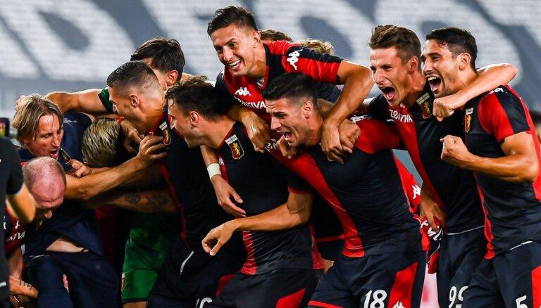 Vietu Itālijas A sērijā saglabā 'Genoa'; no līgas atvadās 'Lecce'