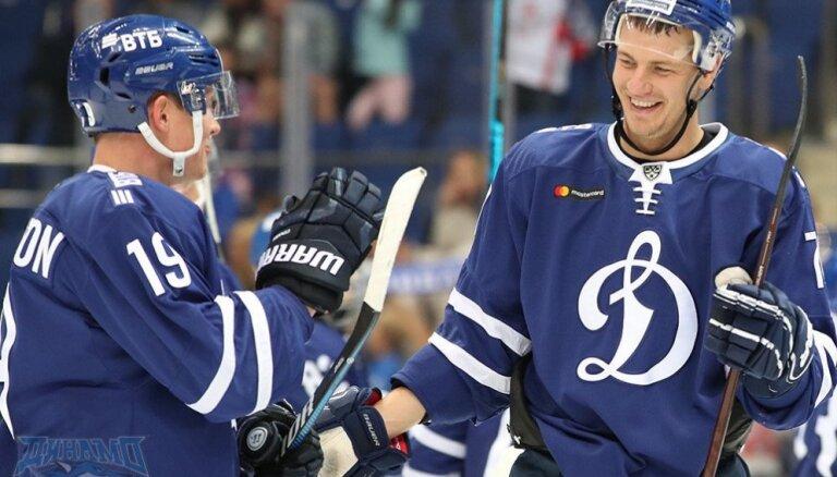 Indrašis gūst 100. vārtus KHL un sarūgtina Rīgas 'Dinamo'