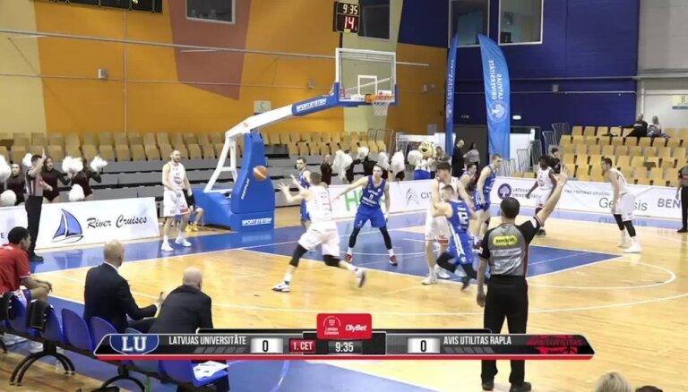 'OlyBet' basketbola līga: LU - 'Avis Utilitas'. Spēles labākie momenti