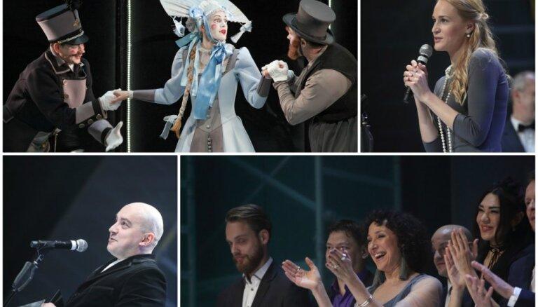 'Spēlmaņu naktī' triumfē Liepājas teātra kustību izrāde 'Precības'
