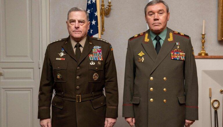 Krievijas un ASV augstas militārpersonas tiekas sarunās Somijā