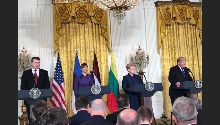 Встреча президентов в Вашингтоне: Трамп пообещал не подвести страны Балтии