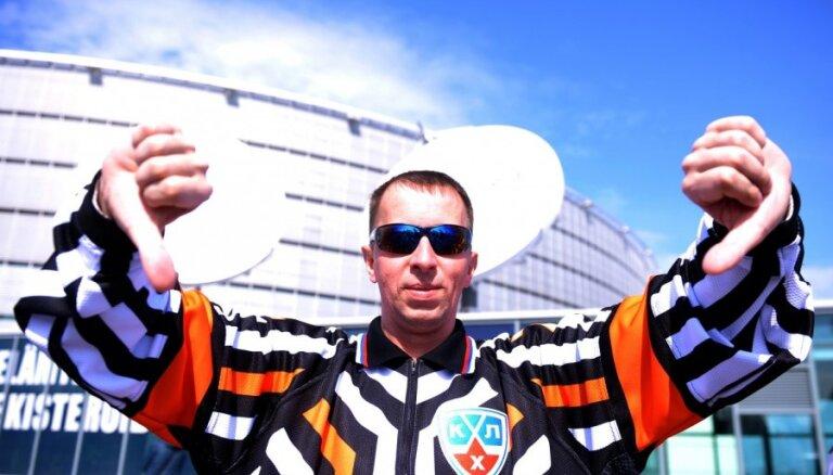 Latvijas hokeja fani Helsinkos: kas atļauts Jupiteram, nav atļauts vērsim?