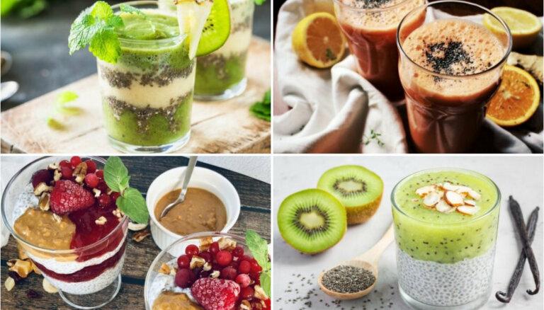 Čia sēklas – kā tās izmantot veselīgos kokteiļos un desertos: 10 receptes labsajūtai