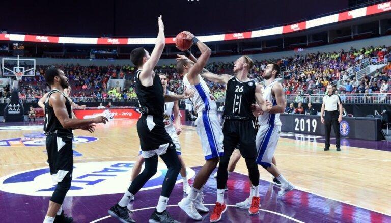 'VEF Rīga' basketbolisti Vienotās līgas mačā pārliecinoši zaudē spēcīgajai Kazaņas 'Unics'