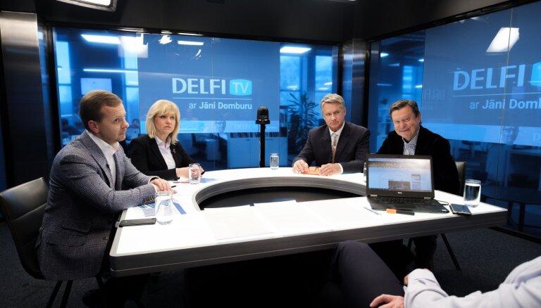 'Delfi TV ar Domburu': atbild 'Nacionālā apvienība' un 'Saskaņa'