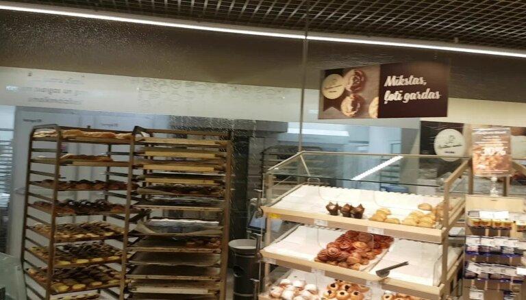 ВИДЕО: Из-за горячих булочек в магазине Maxima сработала противопожарная система
