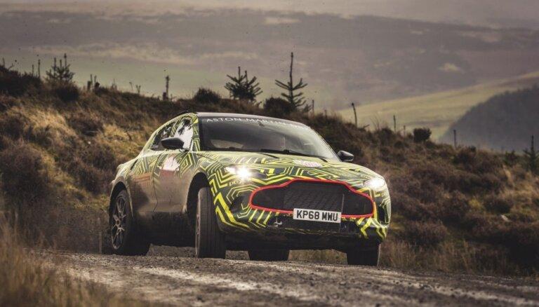 'Aston Martin' parādījis sava pirmā apvidnieka 'DBX' prototipu