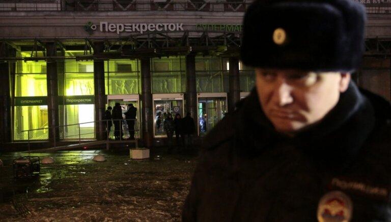 Sprādzienā Sanktpēterburgas lielveikalā cietuši deviņi cilvēki