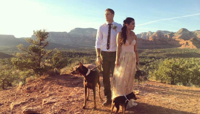 Foto: Štromberga un viņa mīļotās Natašas skaistās kāzas