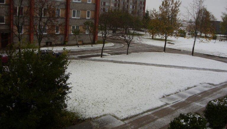 Foto: Pirmais sniegs Rēzeknē pirms deviņiem gadiem