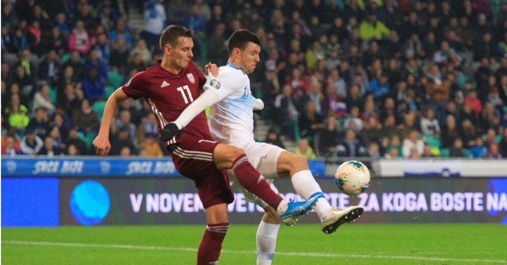 Квалификация ЕВРО-2020: Латвия поборолась в Словении, Россия крупно проиграла Бельгии
