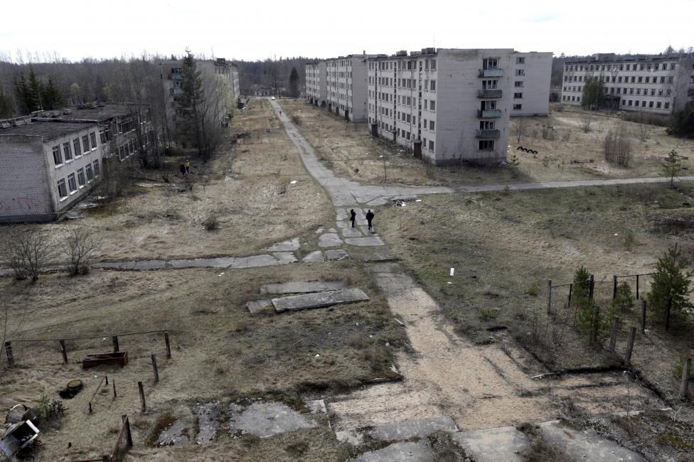 """Как заброшенный военный городок """"Скрунда-1"""" выглядел 9 апреля 2016 года"""
