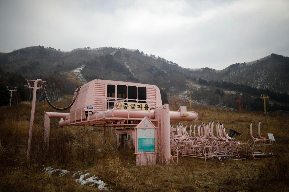 Spokaini foto: Pamests slēpošanas kūrorts Dienvidkorejā