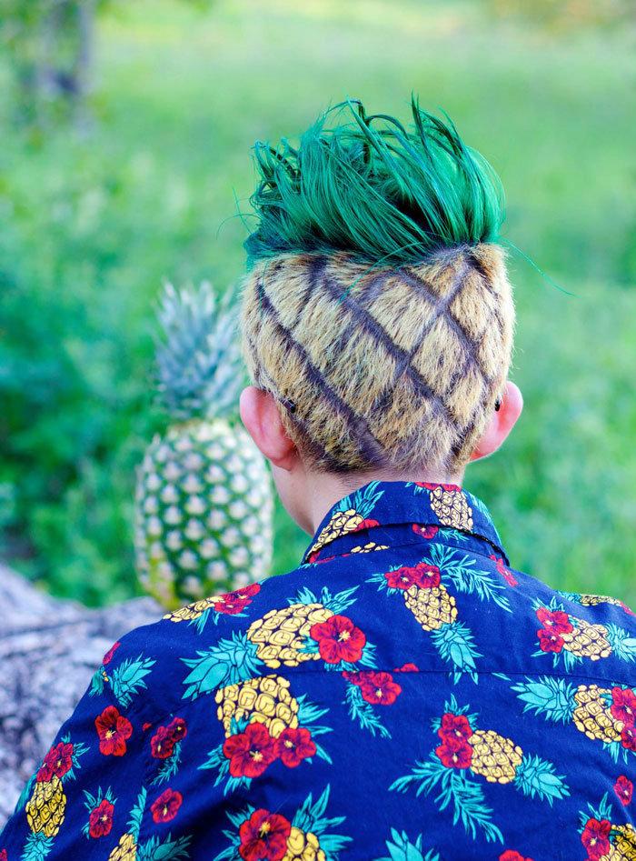 стрижка и окрашивание ананас фото охотитесь натуральной