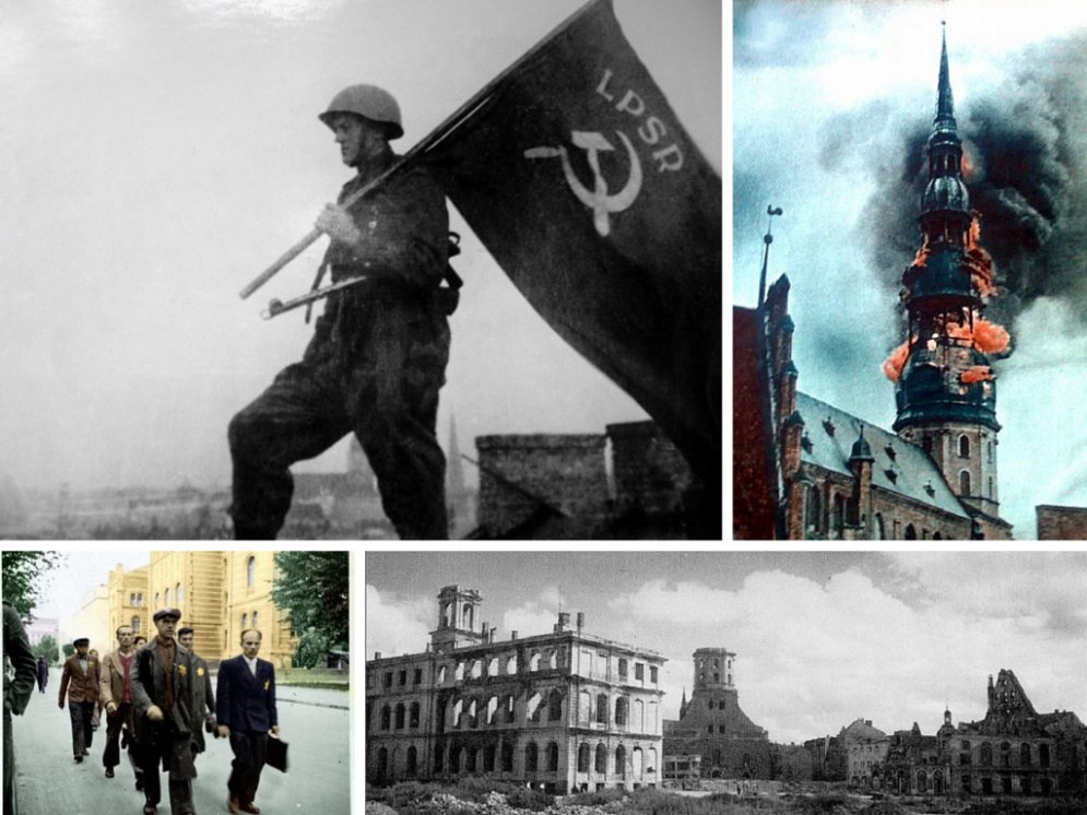 Редкие архивные фото: бои за Ригу и жизнь в столице Латвии с 1941 по 1945 годы
