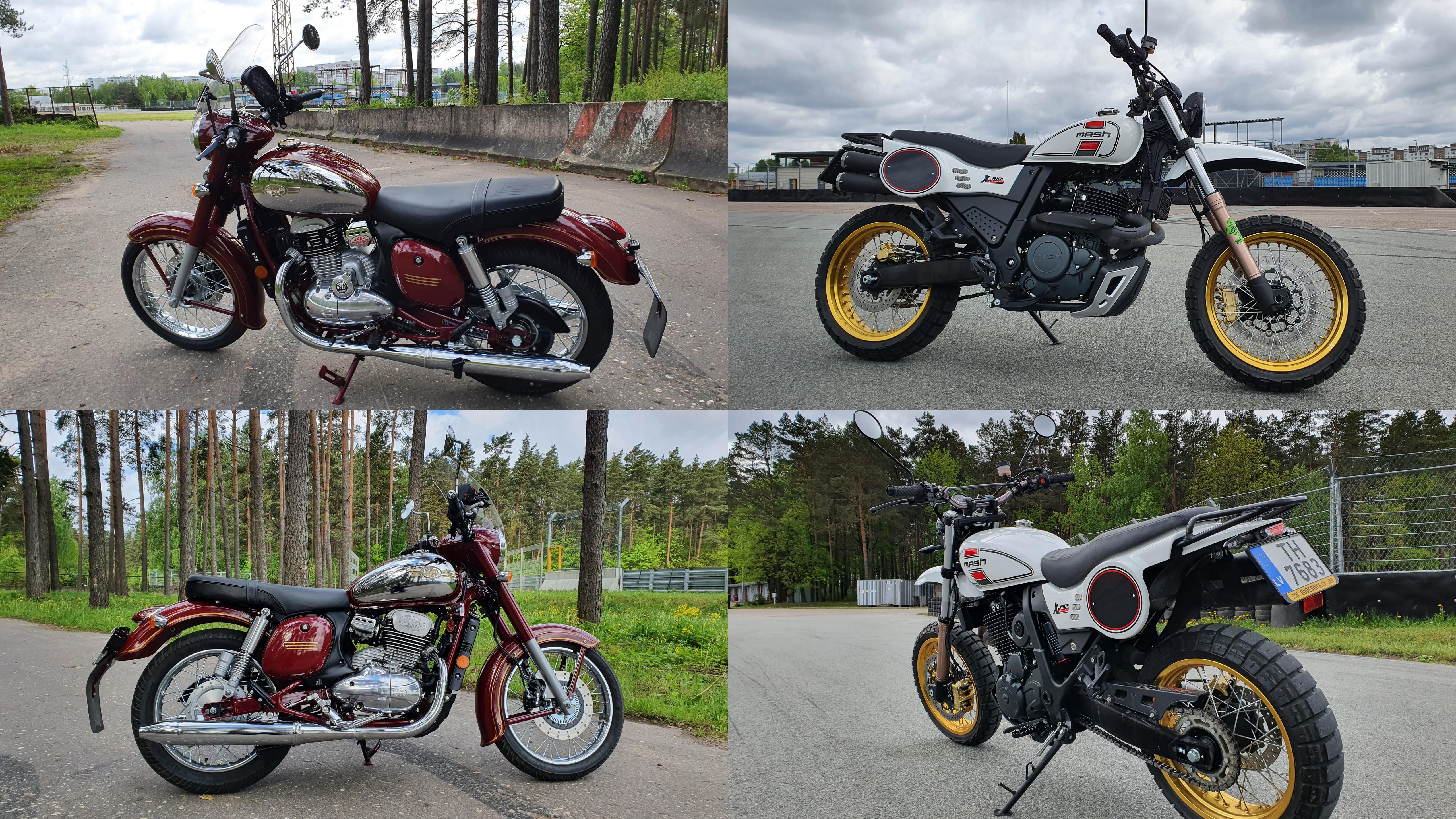 """Jawa 300 CL"" un ""Mash X-Ride Classic 650"""