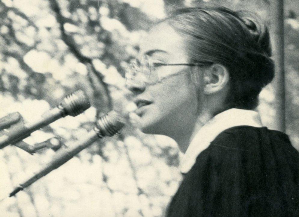 Vēsturiski foto: Hilarija Klintone koledžas gados